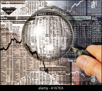 Financial research stock-market - Stock Image