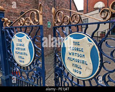 The George Watson memorial Hall 1909, 64 Barton St, Tewkesbury GL20, UK - Stock Image