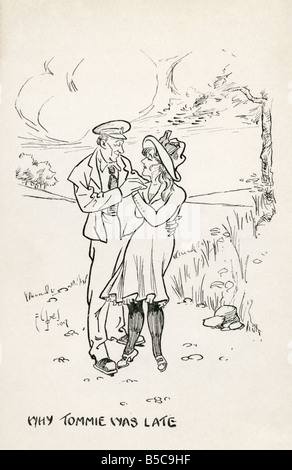 First World War Art Postcard EDITORIAL USE ONLY - Stock Image