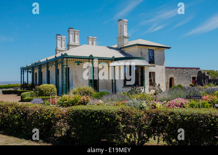 Historic Highfield House on the outskirts of the village of Stanley in Tasmania - Stock Image