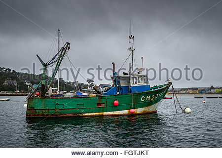 Fishing boat in Brittany - Stock Image