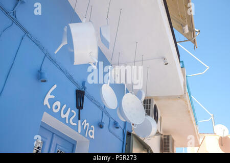 Colourful Cookery Shop on the Island of Kea ( Tzia ) on a Summers day,  Aegean Sea's Cyclades archipelago, Greece. - Stock Image
