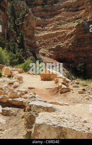 Kaibab Trail switchbacks of Grand Canyon National Park. - Stock Image