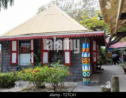 Gift stop in Saint John's, Capital of Antigua and Barbuda - Stock Image