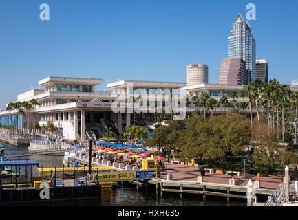 Tampa Bay Riverwalk area, Florida, USA - Stock Image