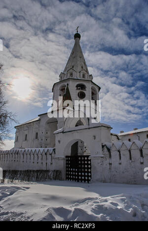 Winter Sunset in Suzdal an ancient Russian historical city . - Stock Image
