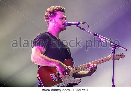 British band Alt-J performing live - Stock Image