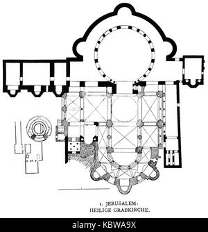 Dehio 9 Church Of The Holy Sepulchre Floor Plan Stock Photo Alamy