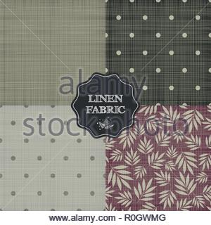 Set of for linen fabric - Stock Image