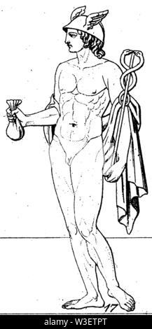 Mercury, ,  (cultural history book, 1875) - Stock Image