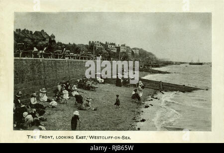 The Front (looking east), Westcliff-on-Sea, Essex. - Stock Image