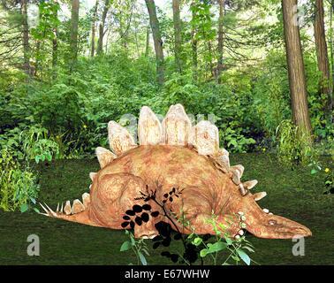 Dinosaurier Stegosaurus / dinosaur  Stegosaurus - Stock Image