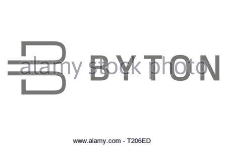 Byton icon logo - Stock Image