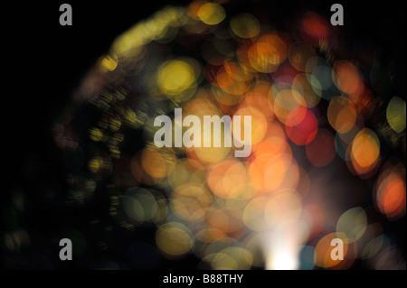 colourful bokeh lights many multitude dreamy surreal dreamscape future sci-fi art - Stock Image