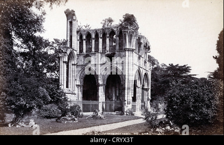 Ruins of Dryburgh Abbey, by G.W. Wilson & Co, ca 1880 - Stock Image