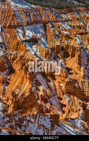 Hoodoos in Cedar Breaks Amphitheater seen in late October from Point Supreme viewpoint, Cedar Breaks National Monument, - Stock Image