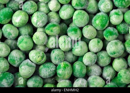 Frozen green peas. - Stock Image