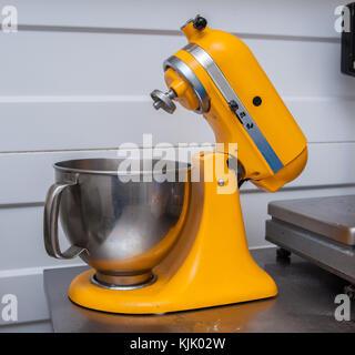 mixer, dough mixer, dough preparation - Stock Image