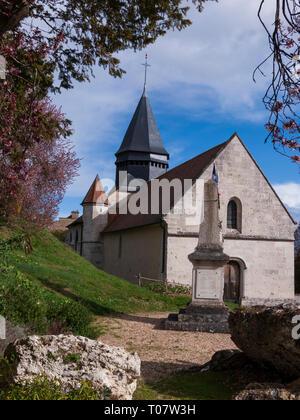 Église Sainte-Radegonde at Giverny, Normandy, France - Stock Image