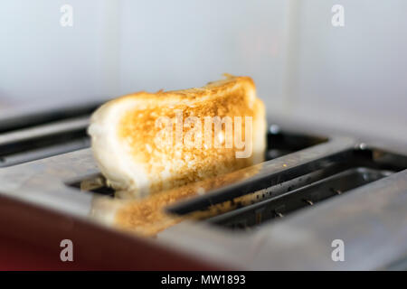 toast in toaster - Stock Image