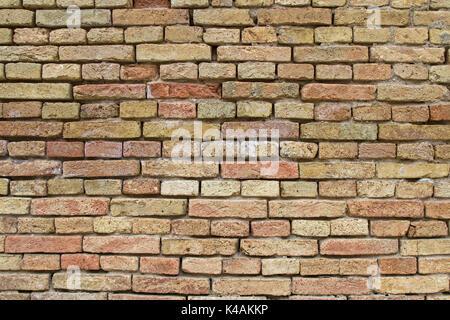 Detail Of A Brick Wall In Palmanova - Stock Image