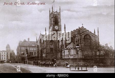 St Peter's Church, Kirkgate, Huddersfield, West Yorkshire. - Stock Image