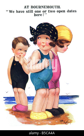 1926 1920s Comic Art Postcard EDITORIAL USE ONLY - Stock Image