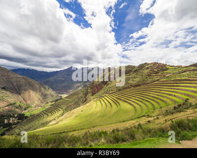 View of the Pisaq Archaeological Park - Stock Image