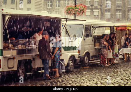 France Arras Market Pas de Calais 2000 - Stock Image