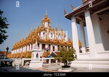 Wat Ratchanatdaram, Bangkok, Thailand - Stock Image