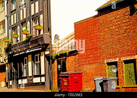 Sheffield, Yorkshireman Rock Bar, Burgess street, England - Stock Image