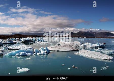 Jökulsárlón iceberg lagoon, Iceland - Stock Image