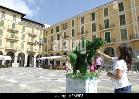 Plaza Mayor Plaza Major Palma de Mallorca Majorca Spain Balearic Islands Mediterranean - Stock Image