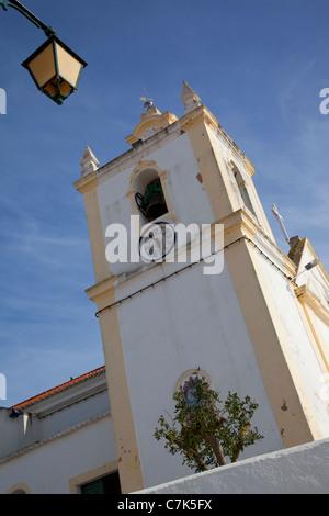 Portugal, Algarve, Ferragudo, Church & Lantern - Stock Image