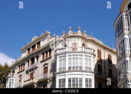 Gebäude in Palma, Mallorca, Architekt Gaspar Bennàssar i Moner. - Building in Palma, Majorca, architect - Stock Image
