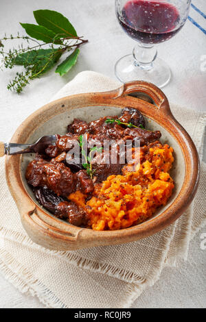16891 Spiced beef stew - Stock Image
