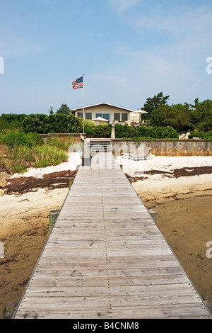 pier, private, house, boating, fun, enjoyment, fishing, pleasure, - Stock Image