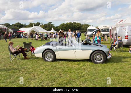 Austin Healey 3000 Mk 3 on display at the Lancashire Game and Country Festival 2015 at Scorton, Lancashire. - Stock Image