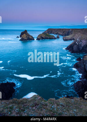 Sunrise at Kynance Cove the Lizard Cornwall - Stock Image
