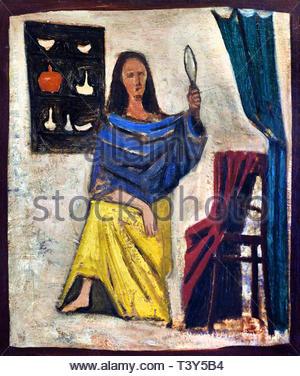 Woman in the mirror 1934 Massimo Campigli born 1895 Italian painter Italy (born Max Ihlenfeldt) - Stock Image