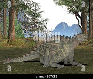 Dinosaurier Huayangosaurus / dinosaur Huayangosaurus - Stock Image