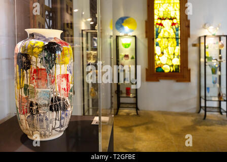 Malaga Museum of Glass and Crystal, interior,  Malaga old town, Andalusia, Spain Europe - Stock Image