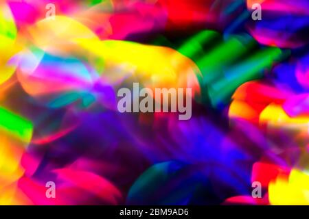 80s Abstract Background With Vibrant Rainbow Neon Bokeh Stock Photo Alamy
