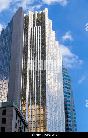 The impressive glass facade of the Royal Bank Plaza from Front Street, downtown Toronto on a sunny day. - Stock Image