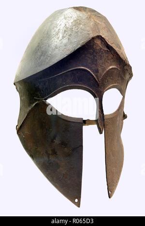 6360. Corinthian bronze helmet, c.6-5 C. BC, - Stock Image