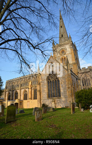 Holy Trinity Church in Stratford upon Avon, burial place of William Shakespeare - Stock Image