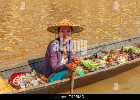 Seller of craft items - Stock Image