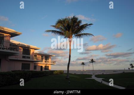 Ocean Lane Villas beachside condominium apartment complex in Fort Lauderdale, Florida United States of America USA - Stock Image