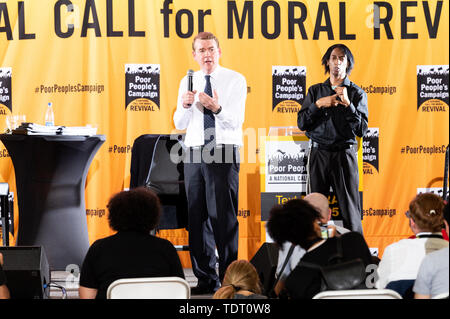Washington, United States. 17th June, 2019. U.S. Senator Michael Bennet (D-CO) speaking at the Poor People's Moral Action Congress taking place at Trinity Washington University in Washington, DC on June 17, 2019. Credit: SOPA Images Limited/Alamy Live News - Stock Image
