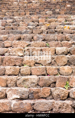 Traditional stoned steps located in a small village called Yaiza, Lanzarote. - Stock Image